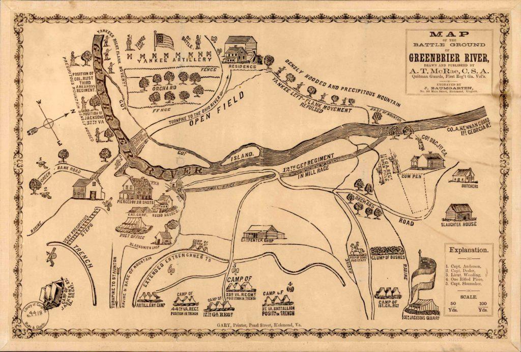 HL Map - Battle Ground of Greenbrier River - McRae